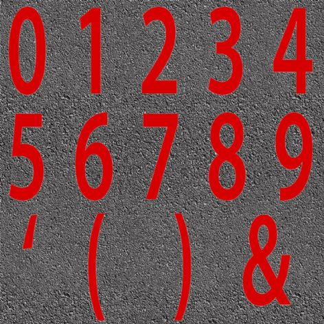 Thermoplastic Red Numbers & Characters